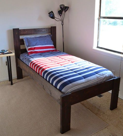 cool bed from ilovetocreate blog make a bed with aleenes wood glue diy twin bed frametwin - Wooden Twin Bed Frame