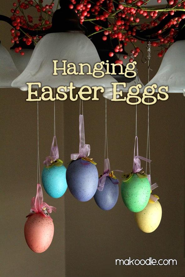 hanging East eggs decor! diy