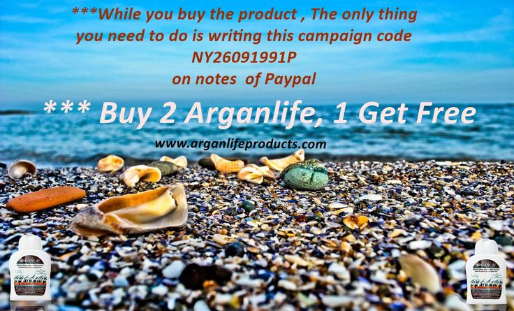 "Special Campaign for Beginning of The Summer  ""The Exclusive Offer is Buy 2, get 1 for free"" has began. The campaign period will be continuing till 31.05.2015. You can have 3 products for  2 product price. ***While you buy the product , The only thing you need to do is writing this campaign code NY26091991P on notes  of Paypal .  #campaign #buy  #free #hair  #code #paypal #sales #draw #life #arganlife #hairoil #natural #hairloss #regrowth #alopecia #baldness #join"