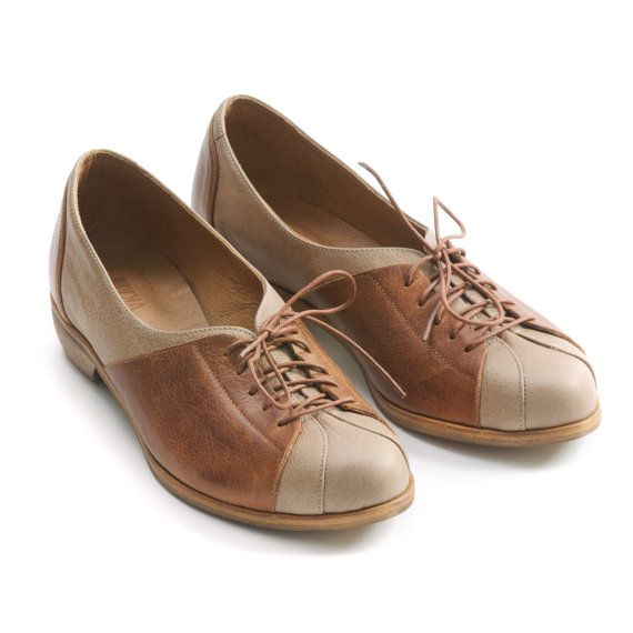 oxford shoes flat brown shoes