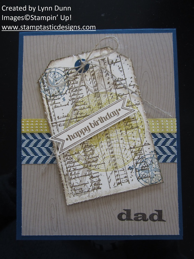 Masculine Card Making Ideas Part - 36: Great Masculine Card Using The Open Sea Stamp Set!