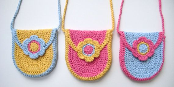 Crochet Pattern curved u-shaped purse bag INSTANT DOWNLOAD PDF, with flap and flower, long strap, cute, uk or us crochet terms, No9