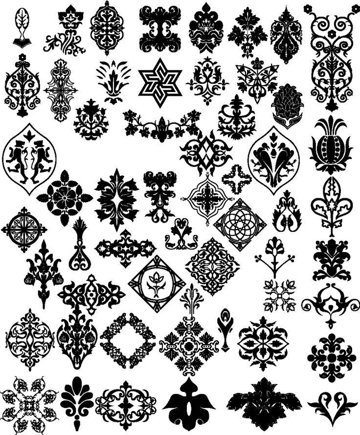 Floral Border Pattern Flowers Vector Vintage Ornamental Design Corner Elements Download PNG Instant Transparent Background Clipart Clip Art by SlavGraphics on Etsy