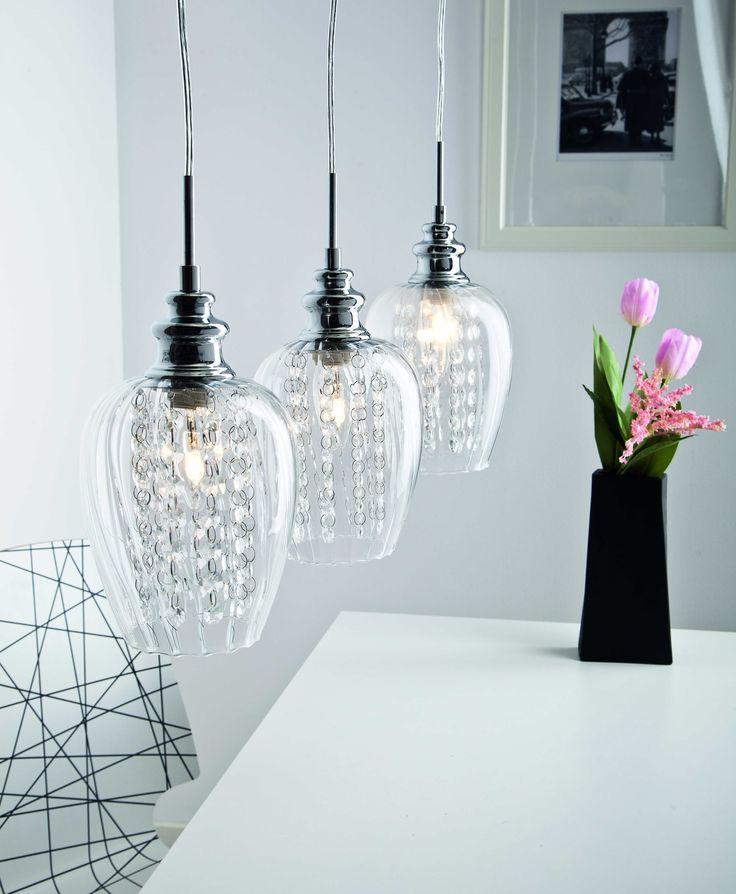 Błysk, szkło, kryształ i światło. Połączenie idealne #obi #obipolska #wnętrza #interior #design #homestyle #decor #lighting #lamp #cristal