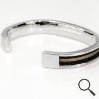 Horsehair bangle Sol, Ribbon 6mm http://nannasalmi.com/collections/bangles/