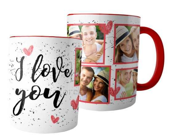 Tazza panoramica I love you collage