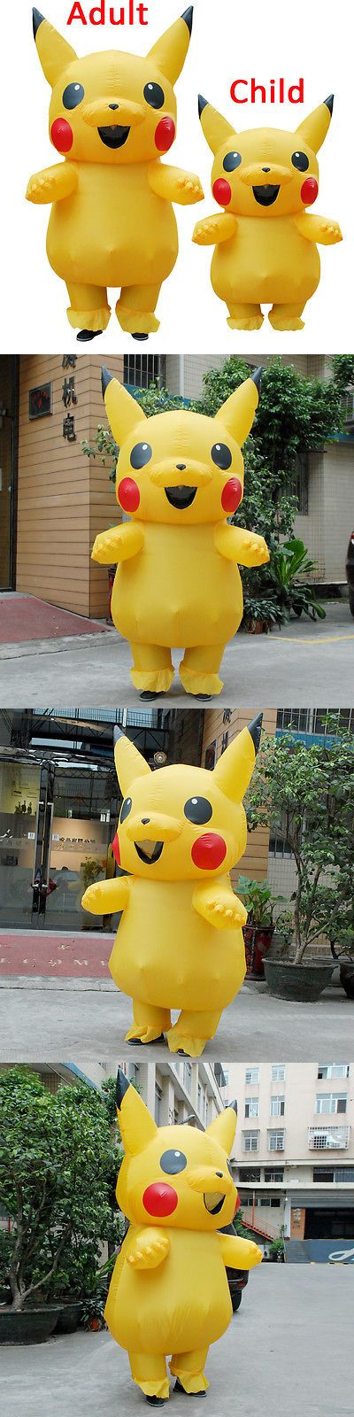 Unisex 86207: Usa Inflatable Pikachu Mascot Costume Pokemon Costumes Adults Kids Outfit Dress -> BUY IT NOW ONLY: $30.99 on eBay!