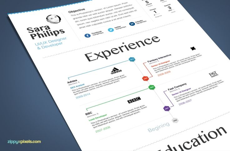 creative resume template with clean minimalistic design 3