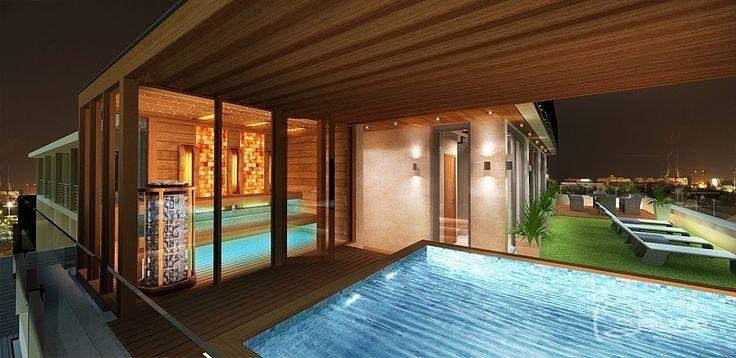 Sauna wellness with combined sauna and salt therapy