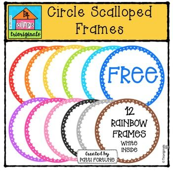 FREE Circle Scalloped Frames {P4 Clips Trioriginals Digita