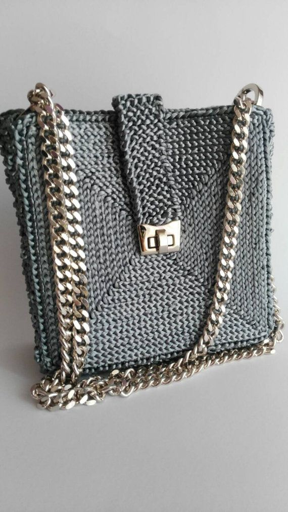 Ultimate elegant grey shoulder bag