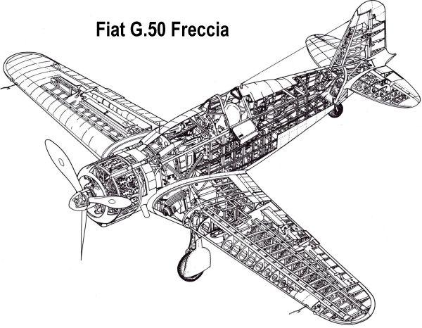 Fiat G.50 'Freccia' Cutaway