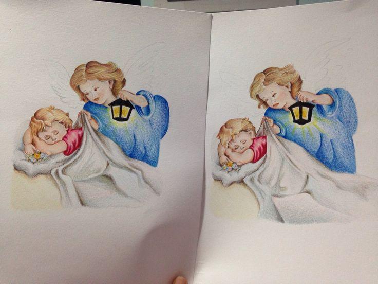 Regala un quadro con angeli dipinto a mano a pastello. Un dono artigianale curato nei minimi particolari firmato #AnnaStile