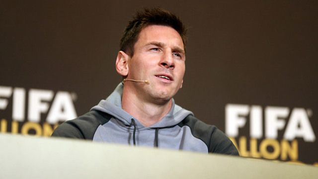 """#DEPORTES Messi: """"Estar aquí ya es un premio"""" Leo habló antes de la gala del Balón de Oro."""