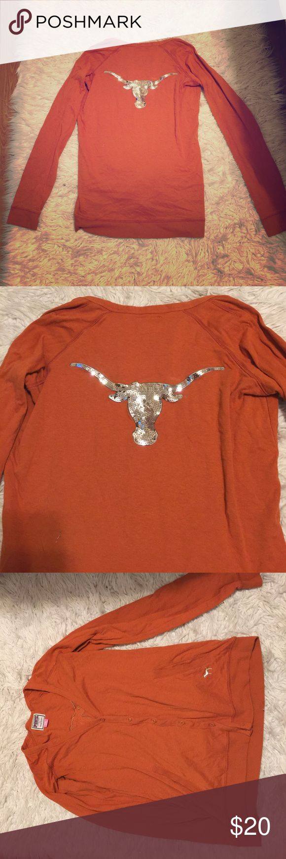 NWOT Pink UT longhorns cardigan Selling my Pink collegiate collection UT Texas longhorns cardigan. Never worn, amazing condition. PINK Tops Sweatshirts & Hoodies