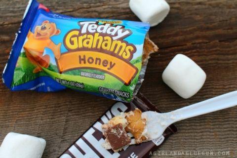 fun camping idea and snack