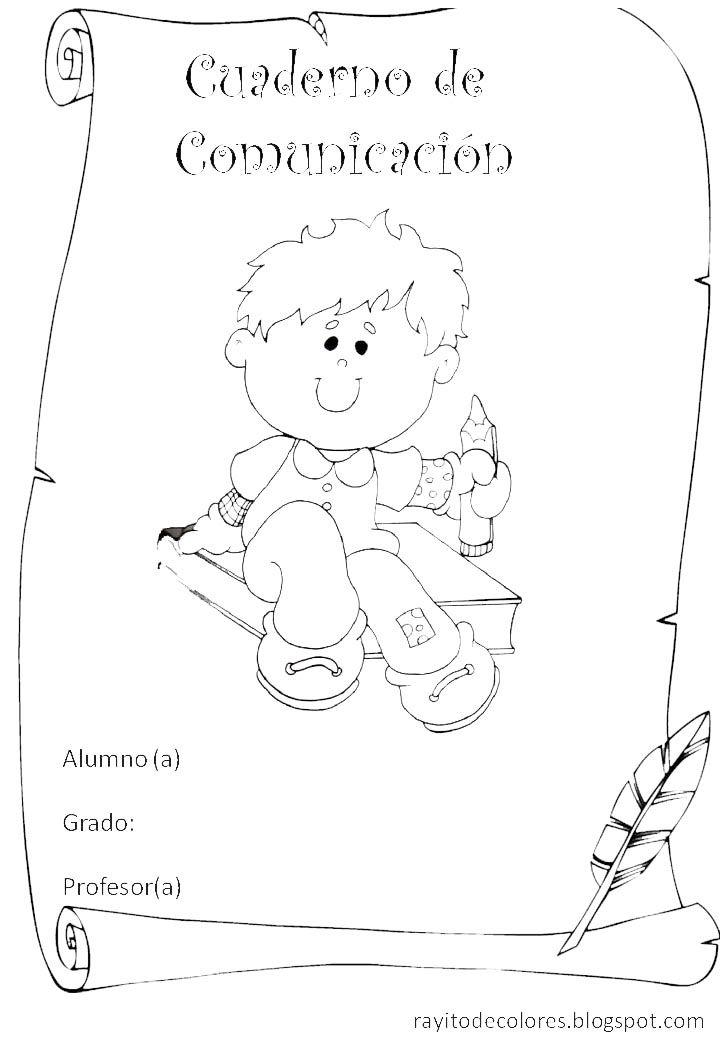 Carátula para cuaderno de comunicación | Cuaderno de ...