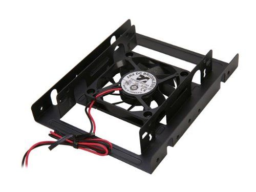 Rosewill 2.5-Inch SSD/HDD Mounting Kit for 3.5-Inch Drive Bay w/60mm Fan RDRD-11003 Rosewill