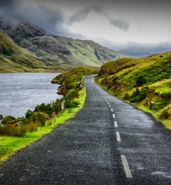 "putdownthepotato: ""A road near Letterfrack, Co. Galway, Connemara, Ireland Photograph by Ido Meirovich"""