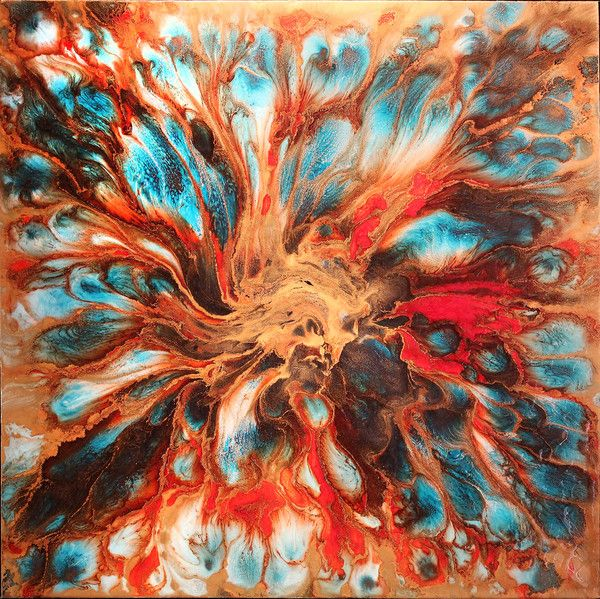 'Supernova' original painting by Lee Tyler http://wyecliffe.com/collections/lee-tyler-original-art/products/supernova-1-tyler-lee