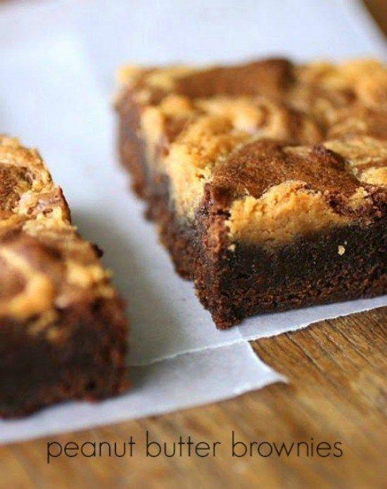 Brownies con manteca de maní