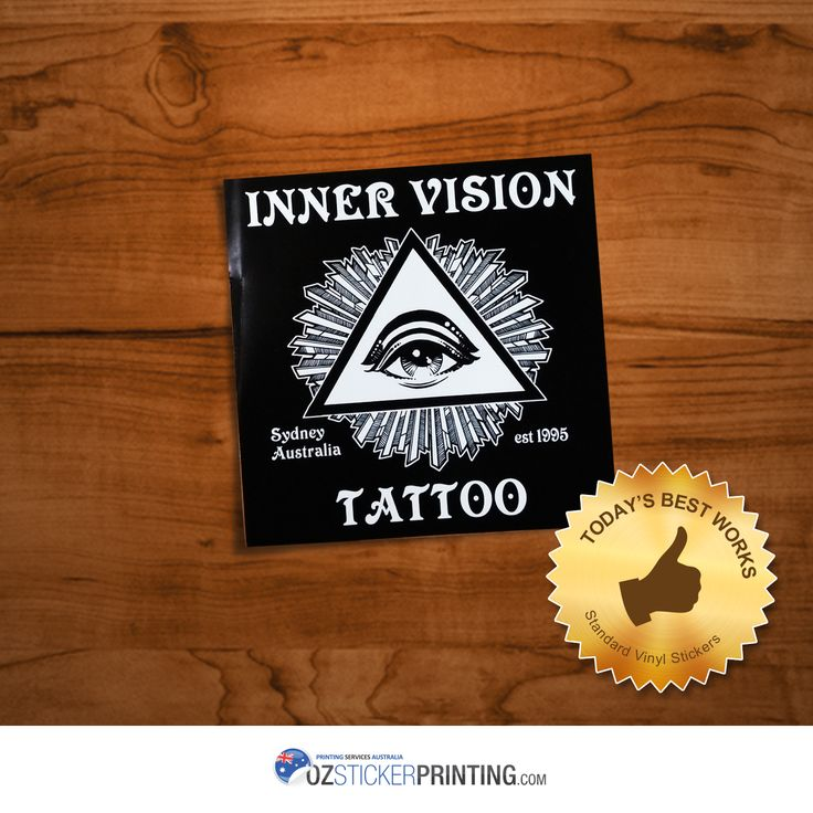 Inner vision tattoo standard vinyl stickers size 105x105mm vinylstickers outdoorstickers stickerprinting
