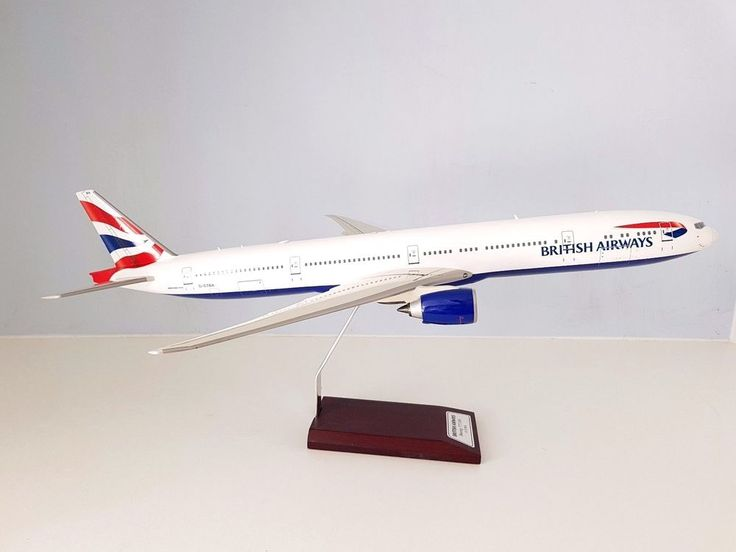 Boeing 777-300 BRITISH AIRWAYS G-STBD a fibreglass desktop model in 1/100 scale #DesktopDisplayModel