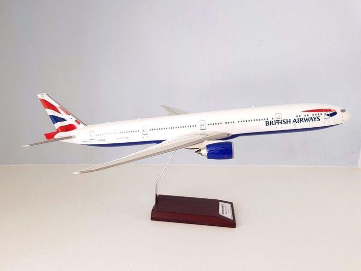 Boeing 777-300 BRITISH AIRWAYS G-STBA a fibreglass desktop model in 1/100 scale