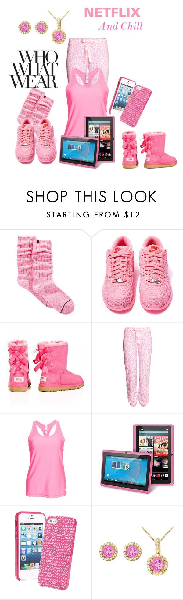 """who what wear/Netflix Night"" by dawndyb ❤ liked on Polyvore featuring Tommy Hilfiger, NIKE, H&M, Under Armour, INC International Concepts, Vera Bradley and LoveBrightJewelry"