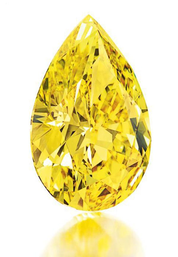 Rare 32.77 Carat Fancy Vivid Yellow Diamond