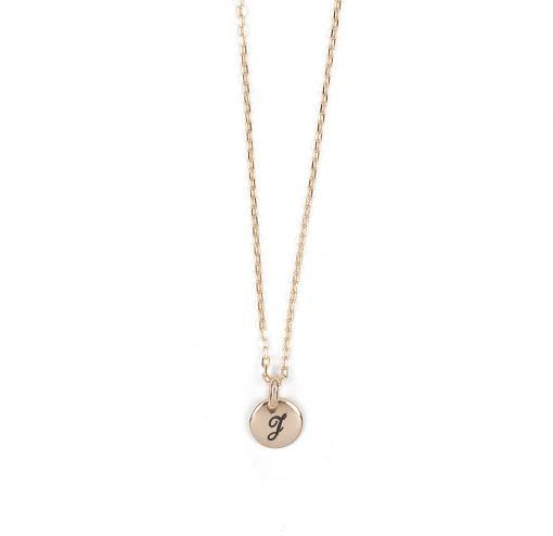 100€ Collier petite médaille personnalisée Plaquée à l'or fin 24 carats - Adeline Affre