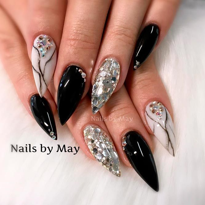 20 Black Nail Artists On Instagram Who Slay The Manicure: Best 20+ Black Acrylic Nails Ideas On Pinterest
