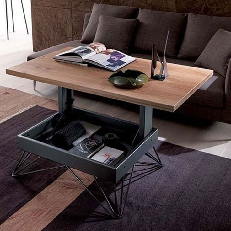 Industrial Style Lift Top Coffee Table: 31 Best Table Basse Images On Pinterest