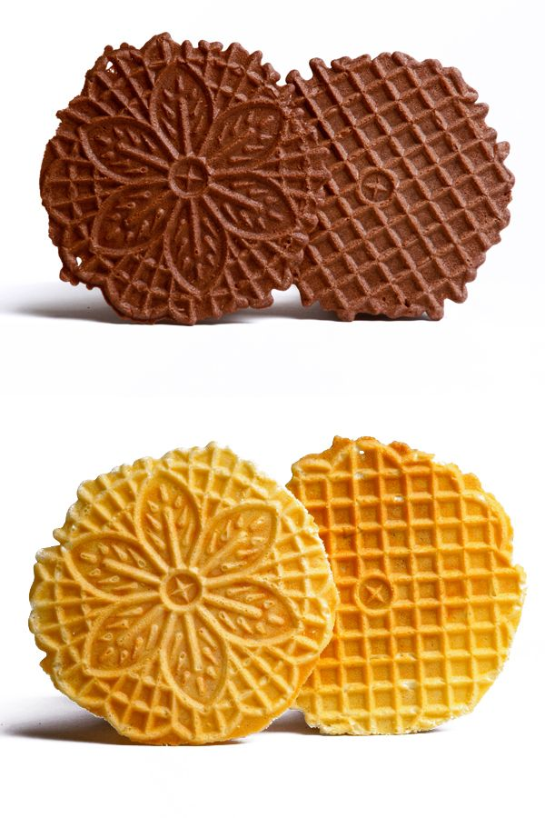Recipes for classic, crispy anise pizzelles, crispy vanilla or crispy chocolate with instructions on how to care for your pizzelle iron.
