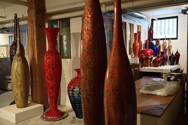 View of the studio. #tommyzen #sculpture #contemporaryceramics #montréal