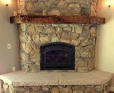 Unique Log Fireplace Mantels #6 Rustic Corner Fireplace Mantels