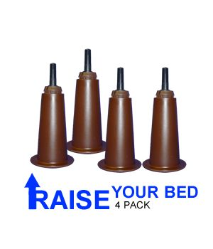 Deluxe bed risers raise your bed adding height and storage room! If you have a standard 7 inch bed frame these will raise your bed up to 10 inches. These are by far the best on the market! They start at