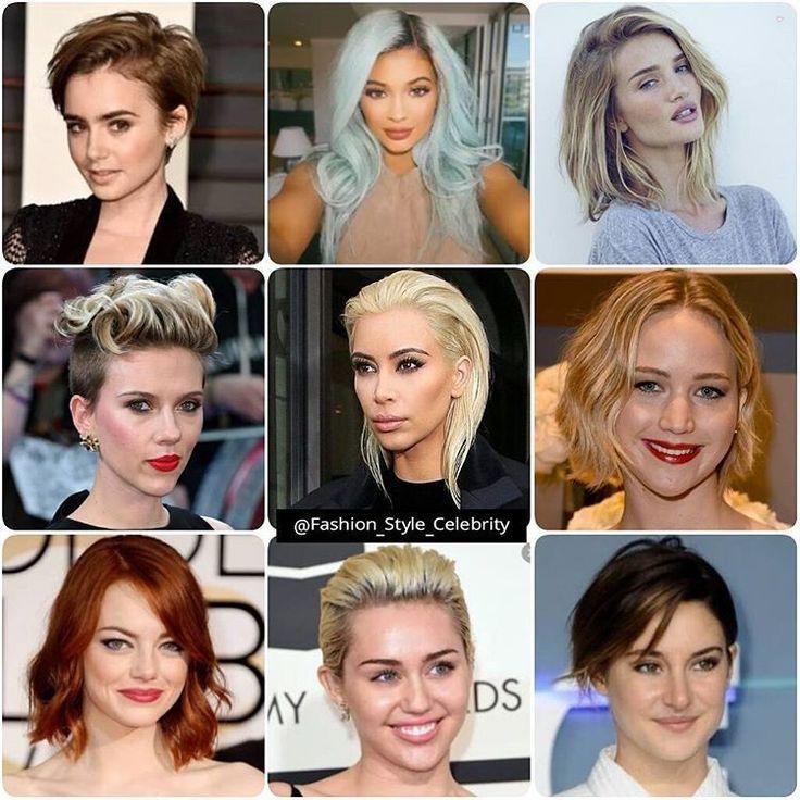 #VOTEFAVOURITE CELEBRITY HAIRSTYLE 2015#lilycollins#Kyliejenner#RosieHuntingtonWhiteley#scarlettejohansson#kimkardashian#JenniferLawrence#emmastone#mileycyrus#ShaileneWoodley#brownhair #blondehair #tagsta #fashiondiaries #fashionable #fashionblogger #fashionstudy #fashionstyle #capelli #hairposts #wavyhair #makeup #hairdresser #naturalhair #curlyhair #shorthair #redhair #highlights... - Celebrity Fashion