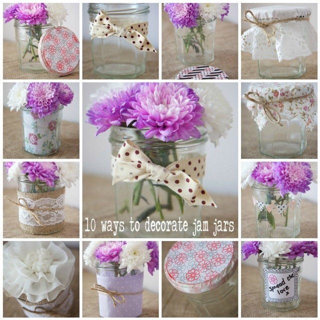 Ways To Decorate Glass Jars: The Crafter In Me