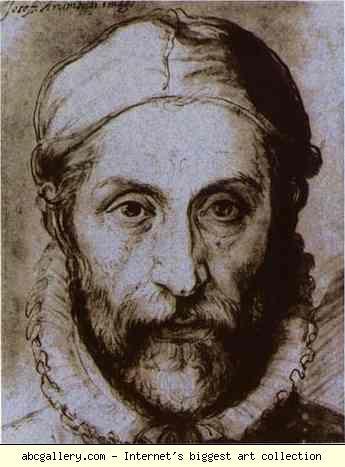 Giuseppe Arcimboldo. Self-Portrait. Olga's Gallery. Self-Portrait. c.1575. Blue pen-and-wash drawing. Narodni Gallery, Prague, Czech Republic. Order a Poster or Print
