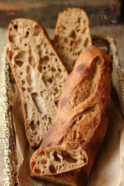 36 Hours Sourdough Baguette With 100 Whole Grain Finale But Not The End Barley Flourwhole