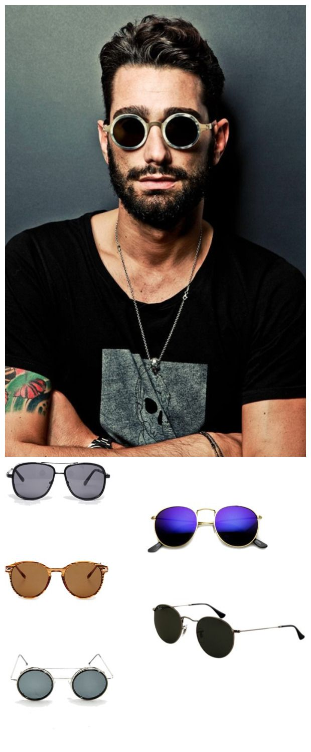 The Best Men's Sunglasses Looks For Summer. Round sunglasses are a great throwback, so grab a pair and get ready to rock out in your favorite look. Revo Round Mirror Sunglasses, $9.99 / Jeepers Peepers Aviator Sunglasses, $32.62 / Round Metal-Temple Sunglasses, $5.90 / Spitfire Clip-On Round Sunglasses, $19.99 / Ray Ban Sunglasses, $150