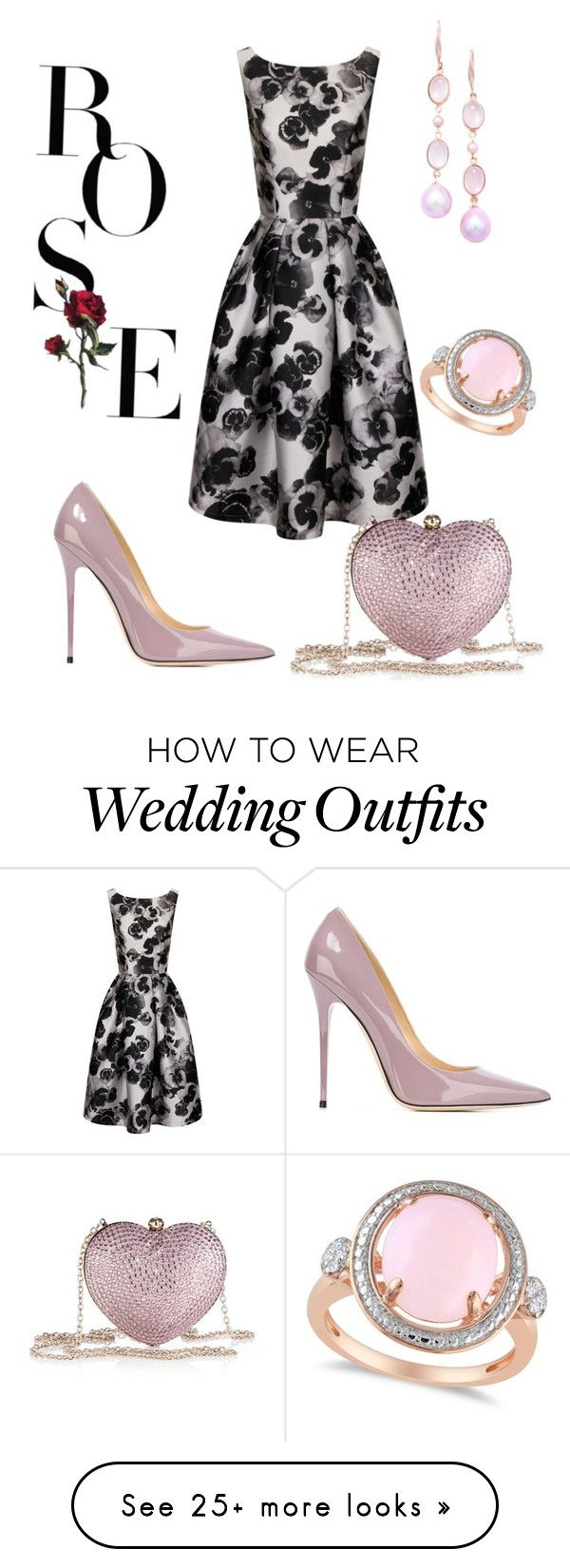 """""""Wedding Guest"""" by glory-girl2 on Polyvore featuring Chi Chi, Love Moschino, Jimmy Choo, London Road and Allurez"""