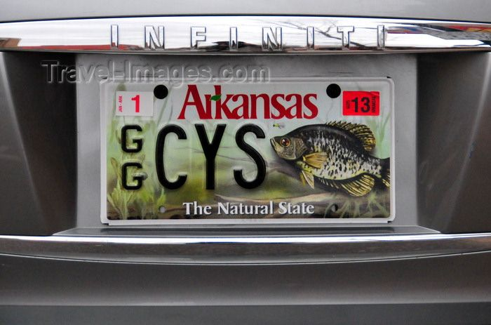 Arkansas crappie plate fishy license plates pinterest for Alabama game and fish
