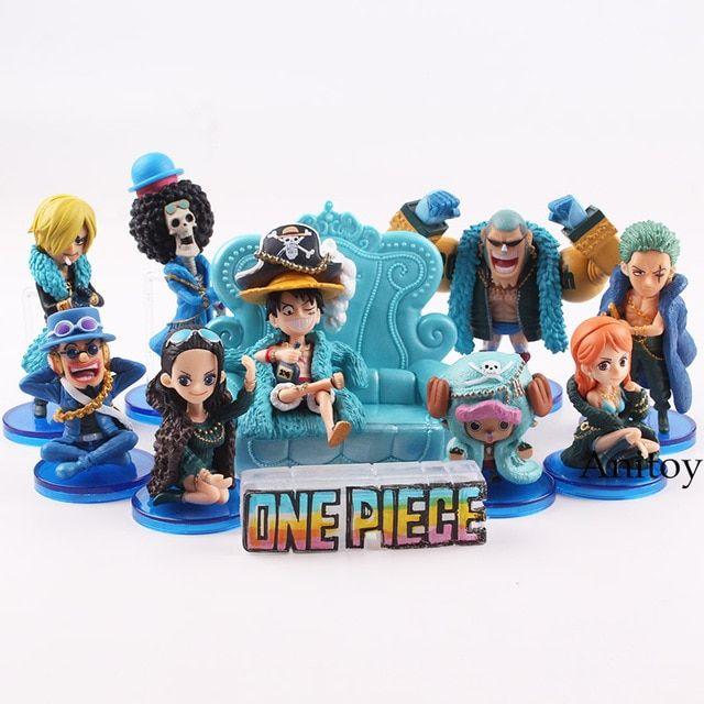 10pcs Anime One Piece sanji franky nami luffy Zoro boa brook Figure Statue Toy