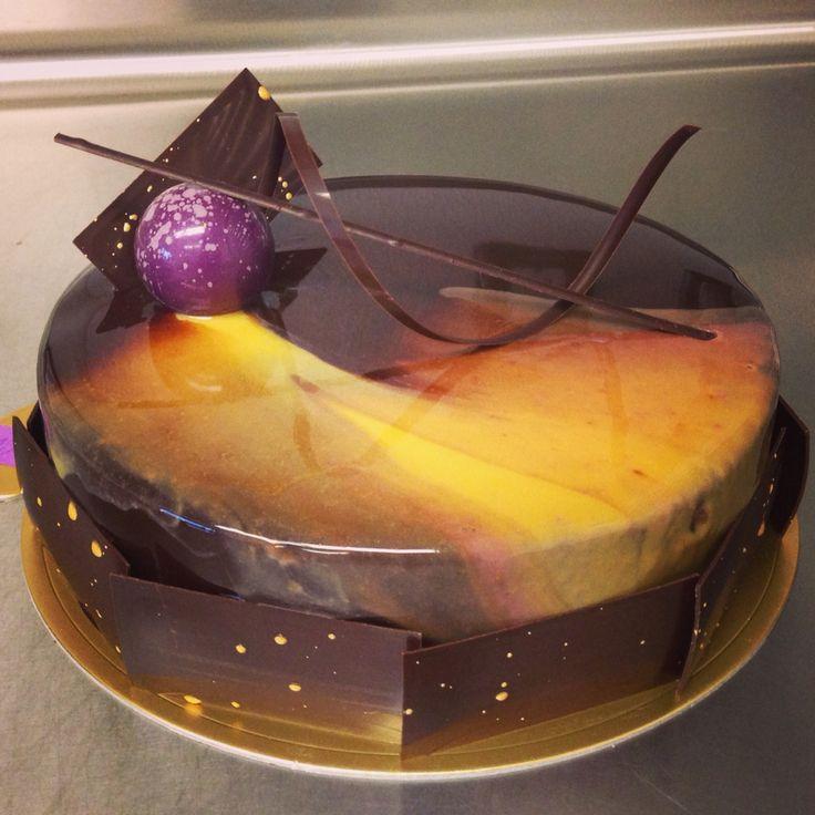 Cosmic chocolate entremet #entremet #cake #dessert #pastry #Normanlove #normanloveconfections #chocolate #spacejamz