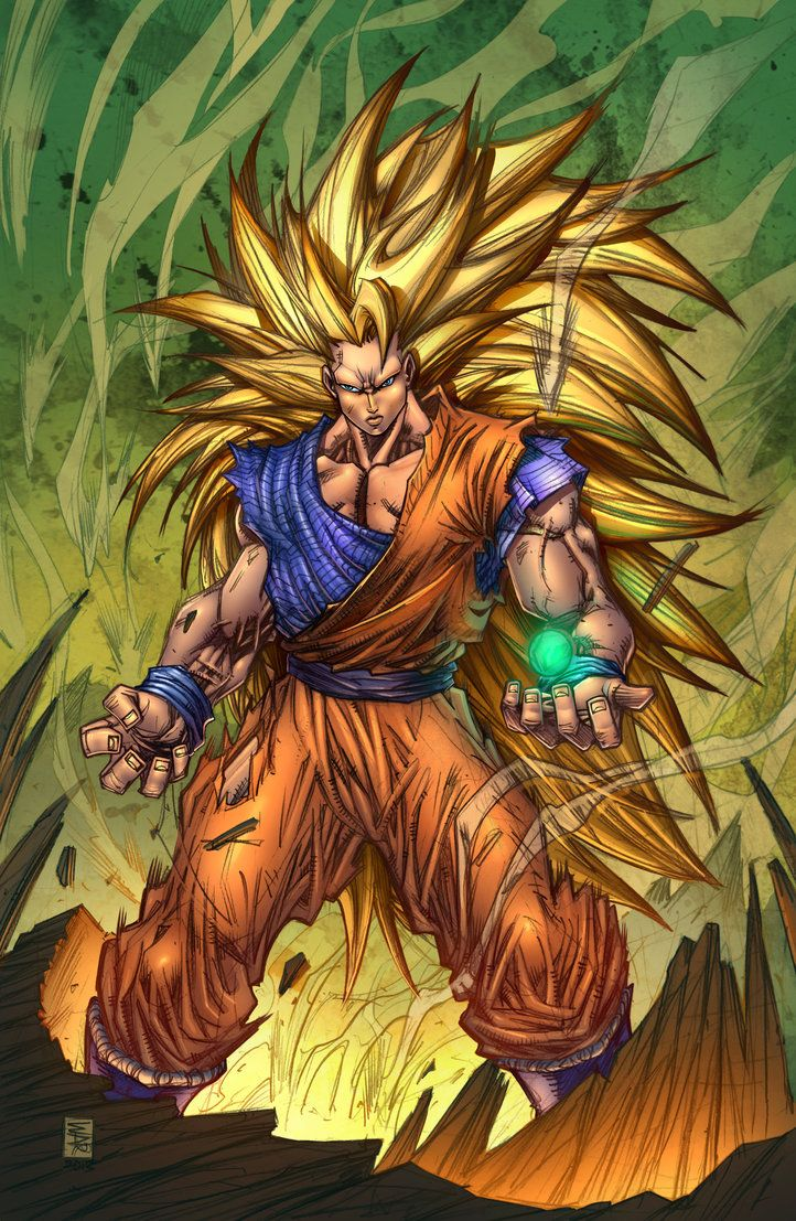 Goku SS 3 Spirit Bomb by SiriusSteve