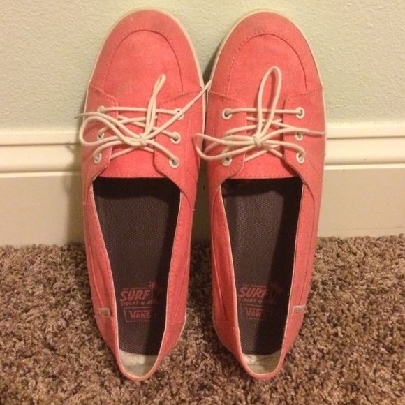 Coral Palisades SF Vans coral vans, never worn, great condition Vans Shoes Sneakers