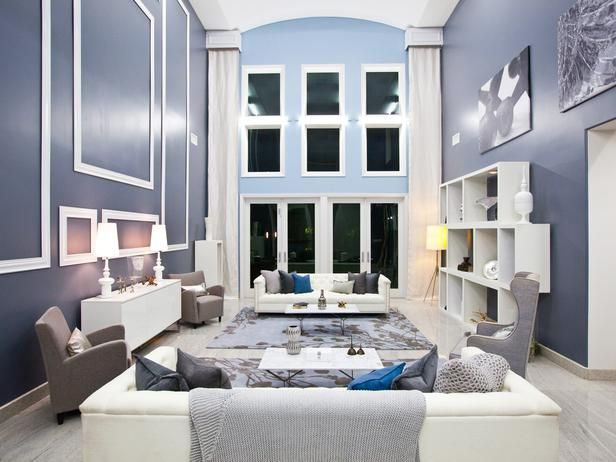 gray roomHgtv Design, House Design, House Ideas, Design Stars, Grey Wall, Living Room, High Ceilings, Colors Schemes, Gray Wall