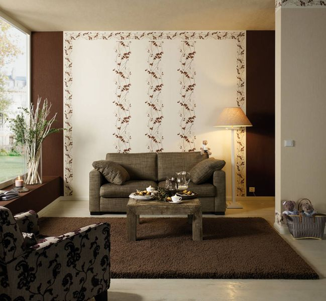 Die besten 25+ Wandgestaltung wohnzimmer beispiele Ideen auf - tapeten wohnzimmer rot